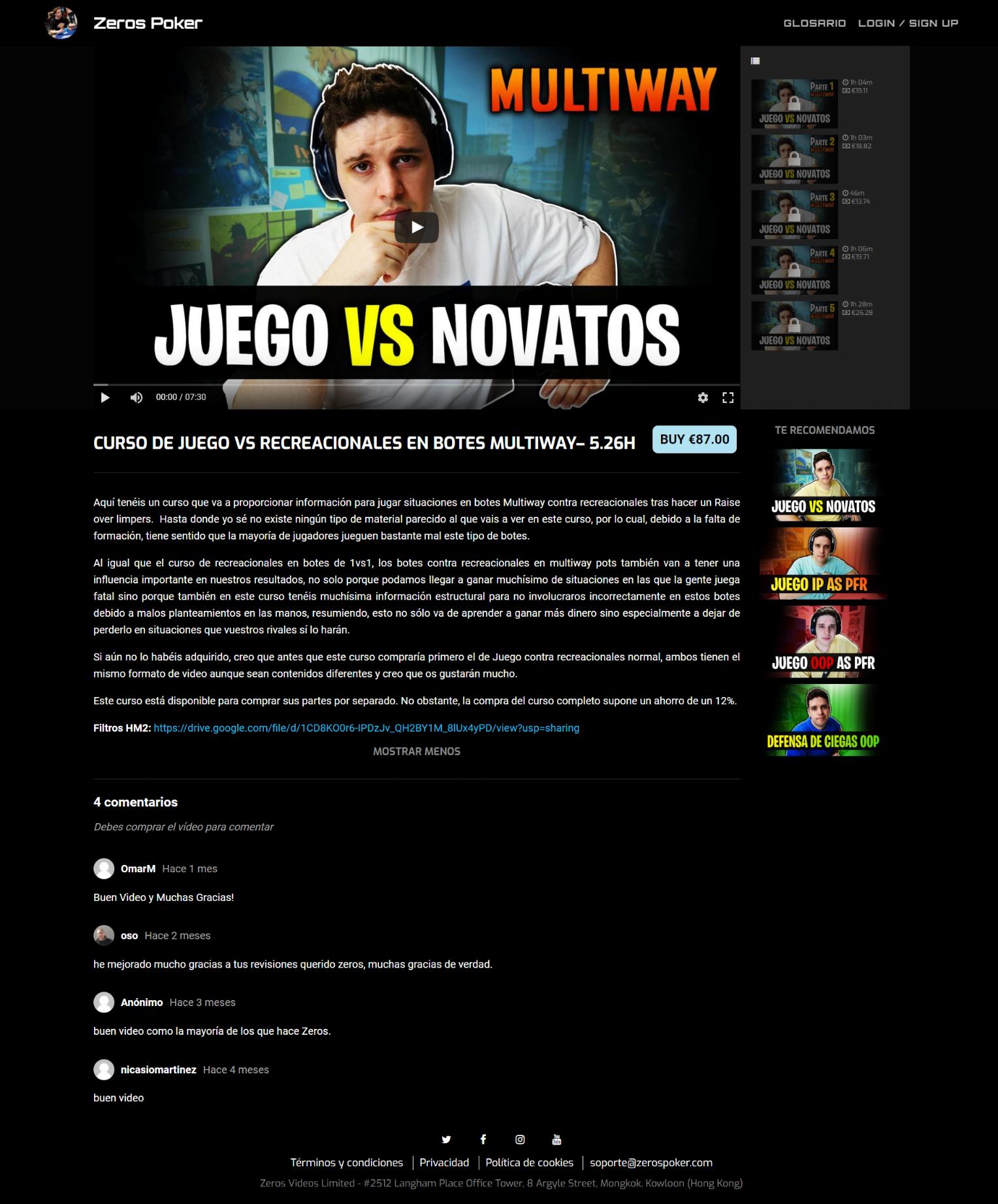 CURSO DE JUEGO VS RECREACIONALES EN BOTES MULTIWAY– 5.26H
