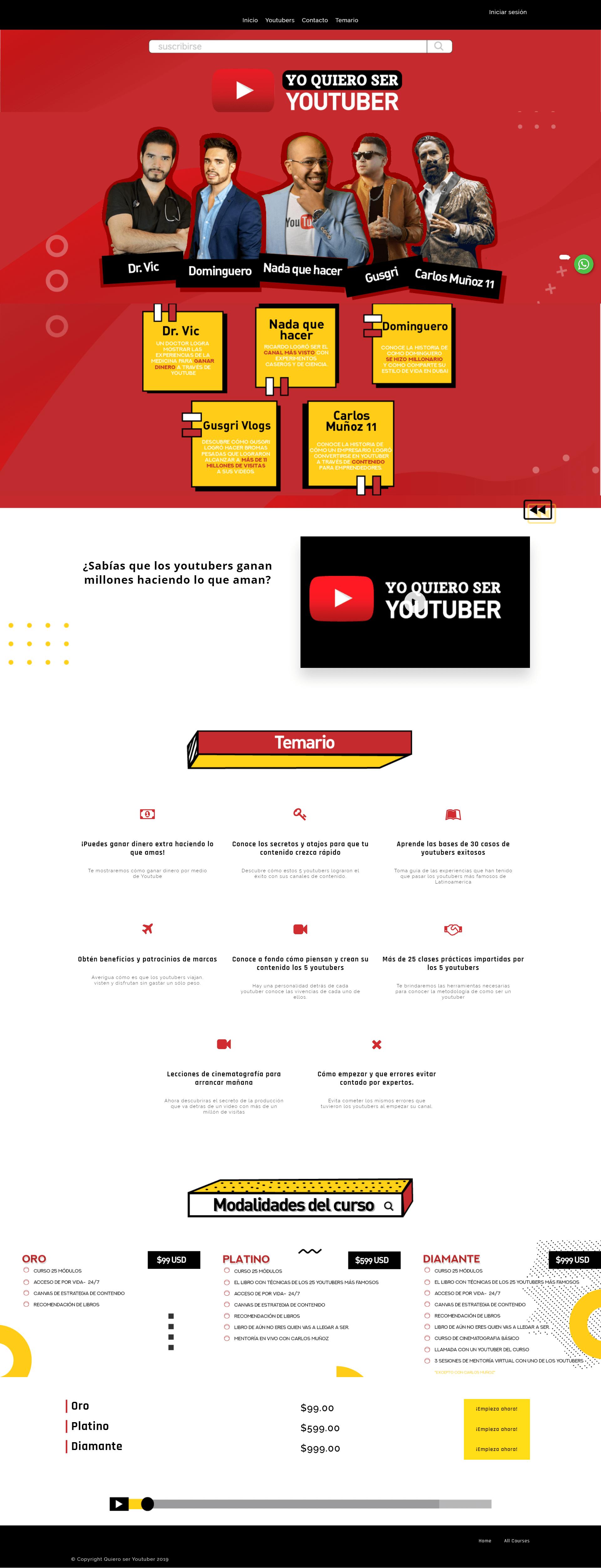 Yo quiero ser Youtuber Curso